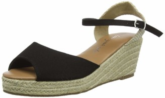 New Look Women's Pat Peep-Toe Wedges