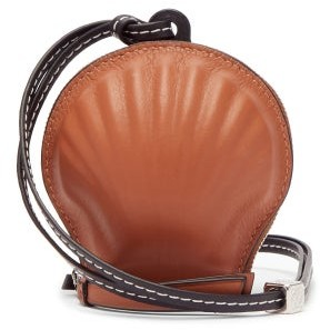 Loewe Paula's Ibiza - Anagram-debossed Seashell Leather Coin Purse - Tan Multi