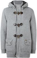 Bark hooded duffle coat