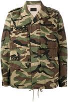 Saint Laurent camouflage love-embroidered parka