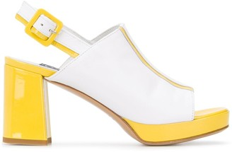 Carel Bimba 75mm two-tone sandals