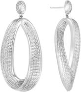 ADDICTION FINE JEWELRY Diamond 1/10 CT. T.W. Diamond Chunky Teardrop Earrings