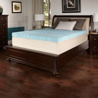 Simmons from 4-inch Comfort Choice Gel Flat Soft Mattress Topper