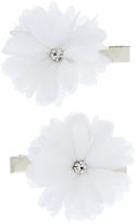 Accessorize 2x Ivory Chiffon Flower Salon Hair Clips