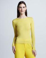 Ralph Lauren Crewneck Cashmere Sweater, Yellow