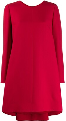 Valentino Long-Sleeved Asymmetric Mini Dress