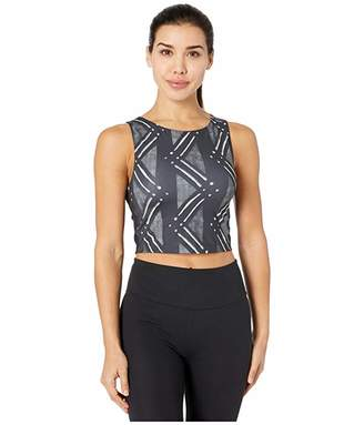 Nike Pro Tank Print (Black/White) Women's Clothing