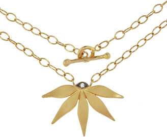 Cathy Waterman Passion Flower Yellow Gold Necklace