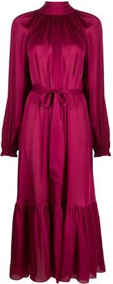 Zimmermann Gathered Hem Silk Dress