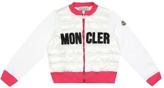Moncler Enfant Logo down and cotton cardigan