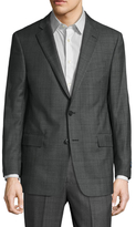 Brooks Brothers Wool Checkered Notch Lapel Sportcoat