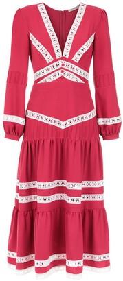 Martha Medeiros Crepe Midi Dress