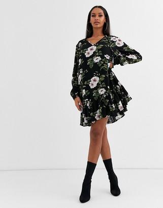 Lipsy leaf print smock dress