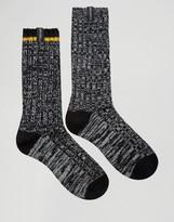 Pringle Black Boot Socks In 2 Pack Black
