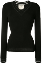BY. Bonnie Young V-Neck Ribbed Sweater