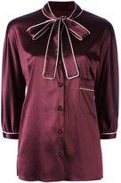 Dolce & Gabbana pussy bow shirt - women - Silk/Spandex/Elastane - 40