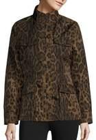 Jane Post Leopard-Print Safari Jacket