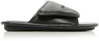 Balenciaga Home Logo-Embossed Leather Slide Sandals