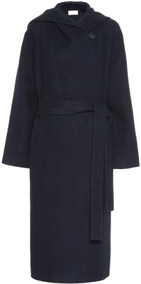The Row Riona cotton and wool coat
