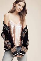 Moulinette Soeurs Rose Gold Sequined Cami