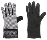Sylvia Alexander Women's Glove Touch Screen Compatible Black/White with Lace Cuff