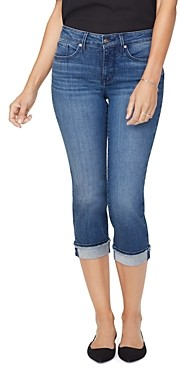 NYDJ Marilyn Frayed Hem Cropped Straight Jeans