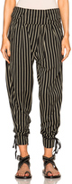 Isabel Marant Rodrys Embroidered Stripe Pants