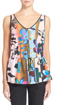 Clover Canyon Riviera Sunrise Floral Print Drawstring Tank