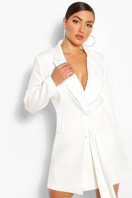 boohoo Sash Detail Blazer Dress