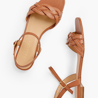 Talbots Violet Braided Flat Sandals