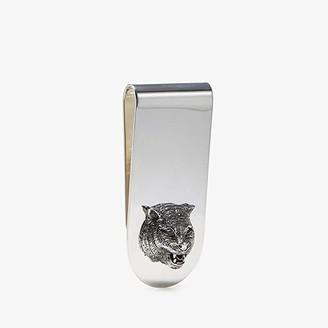 Gucci Gatto Money Clip (Silver) Brooches Pins