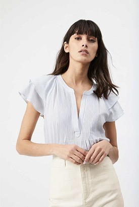 Witchery Short Sleeve Frill Blouse