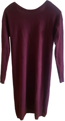 Comptoir des Cotonniers Burgundy Cashmere Dress for Women