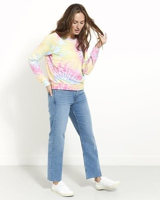 Stripe & Stare Tie Dye Super Soft Sweatshirt - Large / Blue