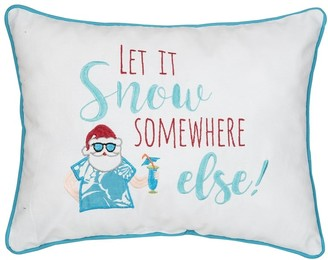 C&F Home Let It Snow Embroidered Decorative Accent Throw Pillow