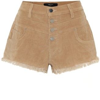 Amiri High-rise corduroy shorts