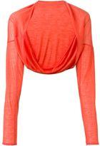 Aviu cashmere fine knit bolero - women - Cashmere - One Size