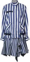 Sacai striped dress - women - Cotton/Silk/Cupro/Polyester - 1