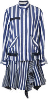 Sacai striped dress - women - Silk/Cotton/Polyester/Cupro - 1