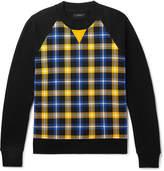 Joseph Checked Cotton-Jersey Sweatshirt