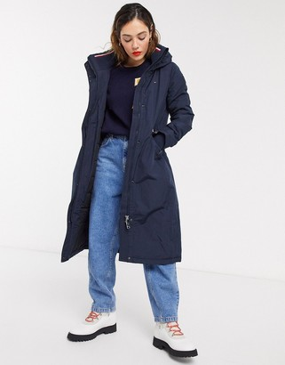 Tommy Hilfiger essential long padded parka in navy