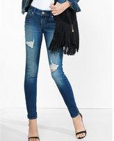 Express distressed low rise jean legging