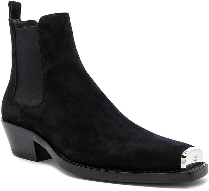 Calvin Klein Western Chris Crosta Boot in Black | FWRD