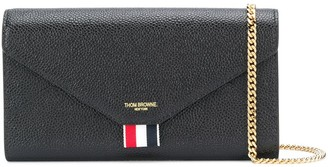 Thom Browne Chain-Strap Grained Leather Wallet