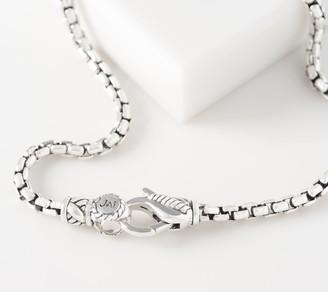 JAI Sterling Silver Choice of Message Box Chain Bracelet, 10.0g