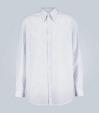 Gucci Oversized cotton pinstripe shirt
