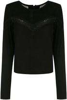 Clé leather cropped blouse