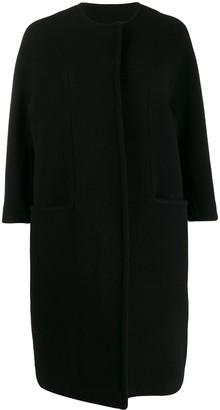 Gianluca Capannolo collarless cocoon coat