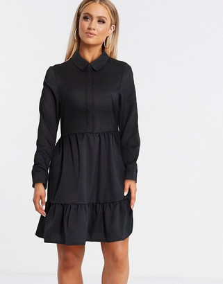 Vero Moda smock shirt dress in black