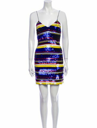 Ashish Striped Mini Dress Blue